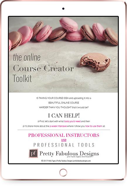iPad Rose Gold Cours Creator Toolkit