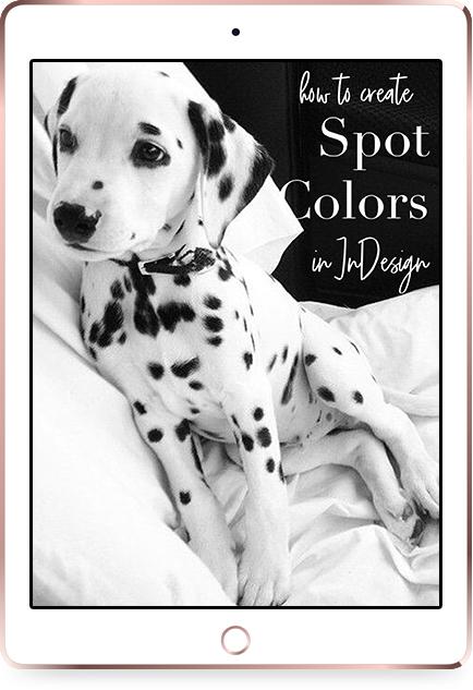 iPad Rose Gold Mockup how to print spot colors