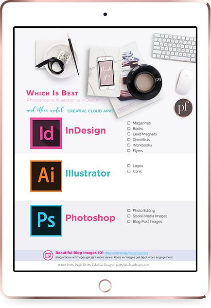 iPad Rose Gold Mockup indesign vs illustrator vs photoshop