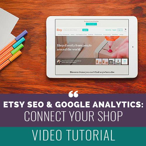 Etsy SEO and Google Analytics copy