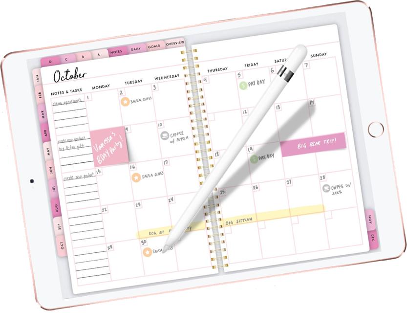 Mockup Digital Planner