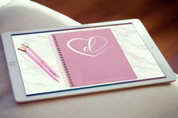 iPad Mockup Pretty in Pink