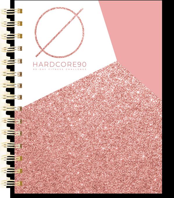 17 Mockup Rose Gold Glitter Notebook